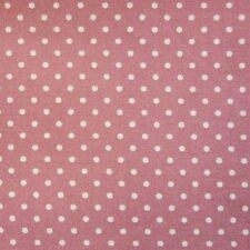 Rose Pink 100% Cotton SML White Polka Dot Spot Fabric