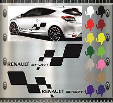2 Stück Renault Sport RS Megane Clio Talisman Aufkleber Sticker