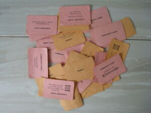 Vintage MONOPOLY Chance / Community Chest Cards Only - Waddington 1960s - 16 x 2