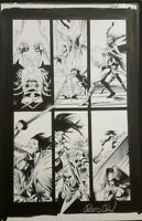 Marvel Zombies Destroy Original Comic Art Page signed pg 18