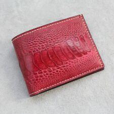 Double Side Handmade Genuine OSTRICH LEG Leather Skin MEN'S BIFOLD Wallet