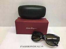 a1c5eb21d56 New Authentic Salvatore Ferragamo Black Gold SF663S 001 Sunglasses