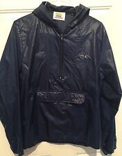 VTG 80's #IZOD #LACOSTE 1/2 Zip #Windbreaker RAIN Jacket Blue HOODED Men's Sz S