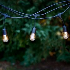 48FT Outdoor Weatherproof Commercial Grade Patio LED String Lights Bulbs Water