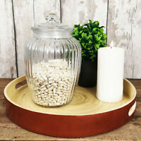 Ribbed Glass Jar 2280ML Fluted Design Sweets Cookies Storage Food Pot Container