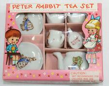 Peter Rabbit Tea Set Miniature  9 pc Children Tea Set Shackman MINT Japan #8758