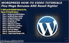 WordPress How to Video Tutorials Plus 500 WordpressThemes And Bonuses - CD