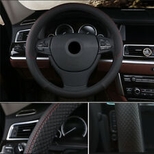 15''/38cm Car Steering Wheel Cover PU-Leather Breathable Anti-slip Black& red
