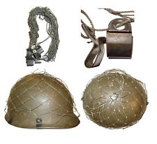 Filet de casque allemand / German Helmet Net compatible WWII 6 crochets Lot 2 PC