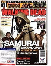 DANAI GURIRA Signed Walking Dead Magazine,  Michonne, Issue # 1 PSA/DNA AC32894