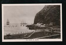 ST HELENA The Wharf RP PPC c1950/60s? print of much earlier image