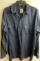 DICKIE'S MEN'S NAVY BLUE LONG SLEEVE BUTTON FRONT SHIRT SIZE XL