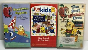 3x THE BUSY WORLD OF RICHARD SCARRY  - ABC VHS VIDEO - Hard To find!