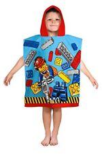 Character World 924 licence LEGO City Cape de bain À capuche coton Bleu/rouge/j