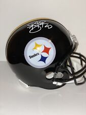 Troy Polamalu Signed Steelers Full Size Replica Black Helmet Beckett WB11455
