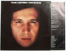 Don McLean Chain Lightning Ger 1978 LP + Inner