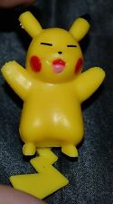 "2"" Pikachu Laying On His Back Pokemon Action Figure Figurine Toys 1st Series #25"