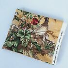 Scalamandre Fabric Edwins Covey #16310 Hand Printed Florals 1.2 Yards Vintage