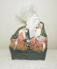 Tomato Theme Kitchen Gift Basket Towels Potholders S & P Shakers Housewarming