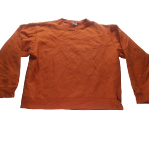 Old Navy Boys Small Pullover Sweater Orange Long Sleeve Casual Crew Neck 05350
