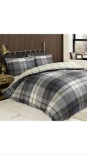 Lomond King Duvet Set 100% Brushed Cotton Flanelette Blue CHEAPEST ON EBAY