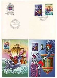 Island Iceland Folklore Europe Cept Mint Maxi Cards And FDC 1981
