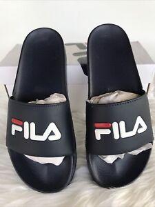 Mens Fila Drifter Slides Navy Size 10