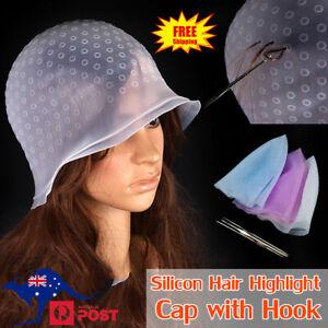 Reusable Hair Cap Salon Highlighting Tinting Hairdressing Streaking Silicone Hat