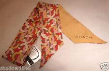 NWT COACH 100% Silk Kristin Chain Pony Tail Bag or Neck Scarf 83302