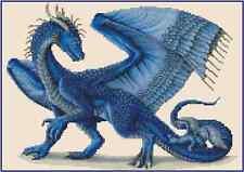 Azul Dragón Punto de Cruz Kit Completo No.36-103