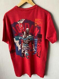 RARE Vintage Retro Nike Jordan T Shirt Size L Made In The USA CHICAGO Bulls 80S