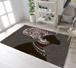 Floor Mat Bedroom Carpet Living Room Area Rugs Turban Beauty African Black Girl