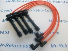 ORANGE 8 mm Performance Ignition Leads Honda CRX 1.6i Vti MKIII Targa SACT conduit