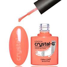 Nail GEL Polish by Crystal-g London UV LED Soak 8ml Post S31 Coral Crazzzy