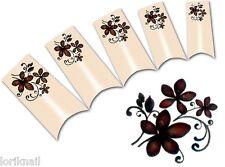 Nail Art Wasser Tattoo Aufkleber für Nageldesign BLE1834 Blumen Ornamente