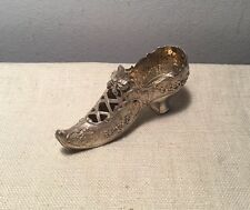 German Hanau Antique Sterling Silver Potpourri Figural Shoe 81.4g