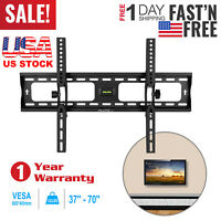 LCD LED PLASMA FLAT TILT TV WALL MOUNT BRACKET 32 37 42 46 50 55 57 60 65 70''