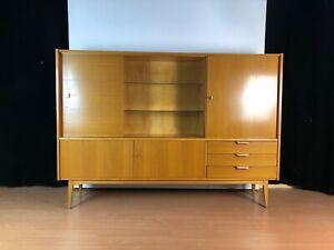 OB20-0059 Rüster Barschrank Wohnzimmer Highboard 50s 60s