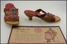 TSONGA SOUTH AFRICA WOMEN'S LEATHER SANDALS SHOES SIZE 6 AUST MARKED 37 EURO