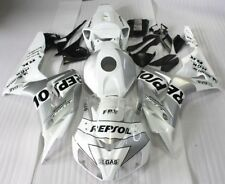 ABS injection plastic Fairing For HONDA CBR1000 RR 2006 2007 Silvery REPSOL