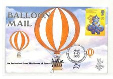 BK157 GB 1990 Balloon Mail The House of Questa Stamp London {samwells}PTS