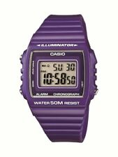 Casio Men's Retro Style Purple Resin Strap Watch W-215h-6avef