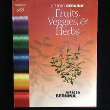 Bernina Embroidery Card #518 Fruits Veggies & Herbs for Artista 165 170 180 200