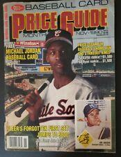 SCD Baseball Card Price Guide Nov 1990 Issue w/ MICHAEL JORDAN Uncut Card Sheet