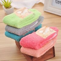 1 Pair Fashion Women Girl Solid Color Coral Velvet Soft Winter Warm Towel Socks