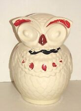 Antique Owl Cookie Jar American Bisque Chippy Paint Heavy Pottery