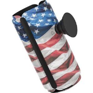 Pop Thirst SLIM Can Holder Popsockets koozie American flag stars stripes