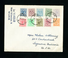 Belgium 1953 Stamps on First Day Cover FDC