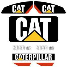 Cat 305C CR decals stickers kit laminated repro kit