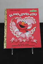 A Little Golden Book ELMO LOVES YOU 1997 First Edition